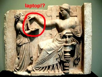 laptop sculptura greaca