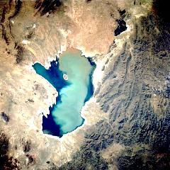 Lacul Poopo, vazut din satelit