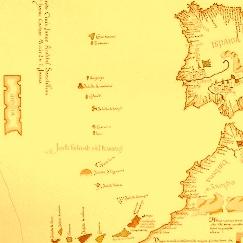 Insula Antilia, in stanga hartii, intr-o harta din 1455