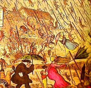 ploaie cu pesti