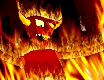 diavol in flacari