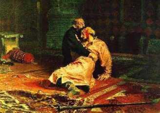 Ivan cel Groaznic ucigandu-si fiul