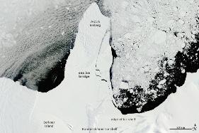 Calota polara Ronne-Filchner (dimineata zilei de 13 ianuarie 2010)