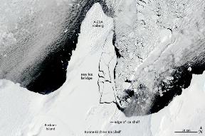 Calota polara Ronne-Filchner (amiaza zilei de 13 ianuarie 2010)