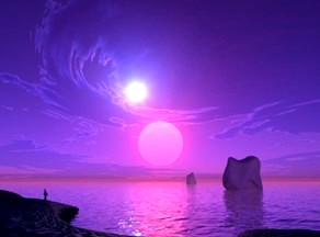 soare albastru