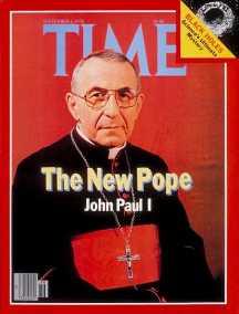 Papa Ioan Paul I, pe coperta revistei Time