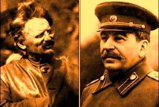Troţki si Stalin