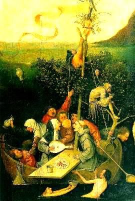 """Vasul nebunilor"" pictura de Jheronimus Bosch"