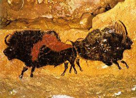 Desene rupestre in pestera Lascaux, realizate de omul de Cro-Magnon