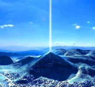 """O rază de energie misterioasă se află deasupra piramidei bosniace a Soarelui. O fi o """"maşină de energie perpetuă""""?"""