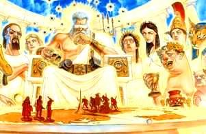 Babilonienii credeau că zeii fuseseră odată oameni...Curios e că şi mormonii cred că Dumnezeu a fost odată om