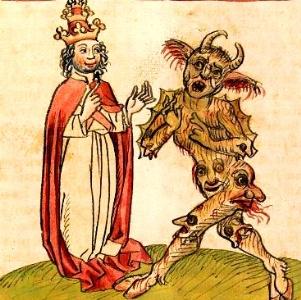 Papa Silvestru al II-lea a ajuns pontif cu ajutorul Satanei, după ce a furat o carte de necromanţie