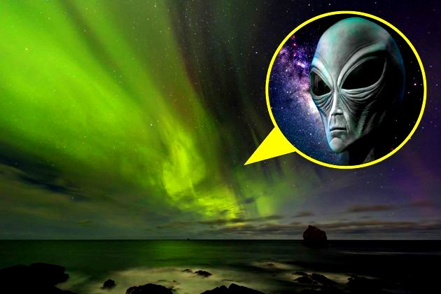 Chipul gigant al unui extraterestru, prezent într-o fotografie a unei aurore boreale. Dovada că proiectul ocult Blue Beam funcţionează!