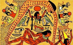 """Regele-zeu egiptean Geb trăieşte 1.773 de ani, după ce a fost muşcat de o cobră! A fost el """"infectat"""" de extratereştrii-reptilieni?"""