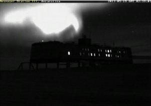 aurora polara Antarctica sau Nibiru