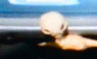 Într-un videoclip incredibil filmat pe străzile din Montreal (Canada), un extraterestru îşi scoate capul de sub podeaua maşinii, unde se ascundea!