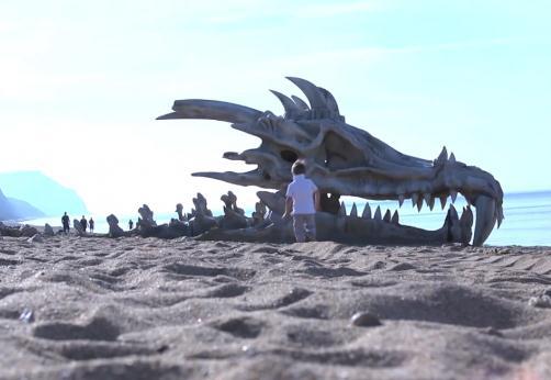 Un craniu de dragon, absolut gigantic, a fost descoperit pe o plajă din Anglia! Care este povestea lui?