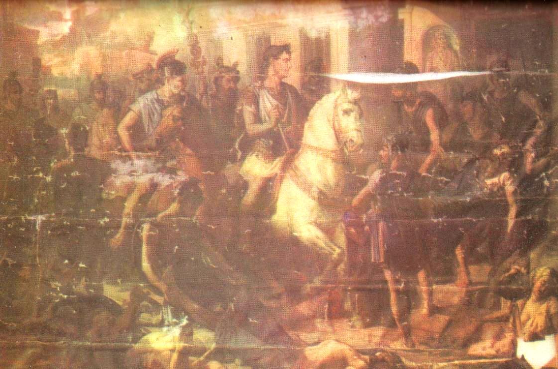 """Haideţi să descoperim împreună enigma unui mare tablou românesc: """"Intrarea triumfală a lui Traian în Sarmizegetusa"""" de Sava Henţia. Oare a dispărut?"""
