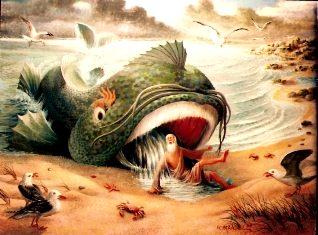 Iona din Biblie de cine a fost înghiţit? De o balenă? Sau a ajuns într-o navă spaţială cu holograme?
