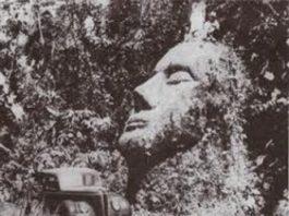 Giganticul cap sculptat, descoperit în anii 30 în jungla din Guatemala şi vechi de 7.000 de ani, a fost furat şi ascuns de guvernul SUA. De ce?
