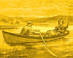 lac barca indragostiti