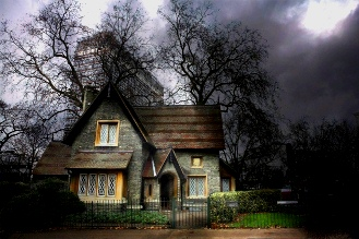 Haunted house in London