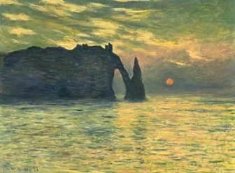 Monet Apus de Soare