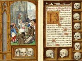 """""""Cartea de rugăciuni a lui Rothschild"""", unul dintre cele mai scumpe manuscrise din istorie! Cred că malefica familie Rothschild se închina craniilor de om din această carte..."""