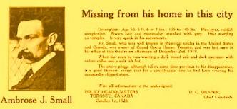 Unul dintre cele mai misterioase cazuri poliţiste din lume: dispariţia mogulului canadian Small Ambrose. Accident sau a fost omorât?