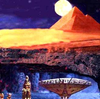 tuneluri sub piramide
