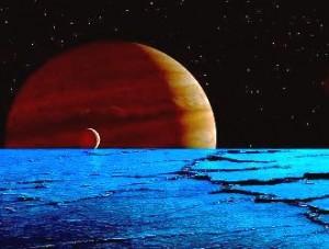 Specialiştii NASA încearcă să-i găsească pe extratereştri cu ajutorul undelor radio ale planetei Jupiter! Pe satelitul Europa există imense oceane subterane unde s-ar putea ascunde viaţă...