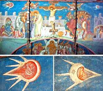 ingeri extraterestri manastire