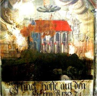 Un OZN misterios a fost descoperit în Biserica Mănăstirii Dominicane din Sighişoara! El seamănă foarte mult cu un alt OZN ilustrat într-o carte din secolul al IV-lea...