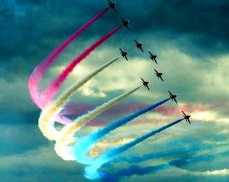 avioane pe cer