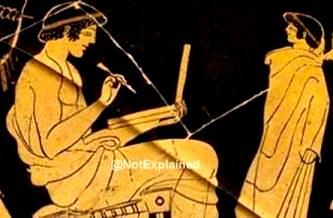 grec antic cu laptop