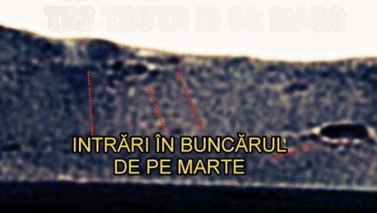 intrari in crater Marte