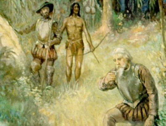 Ponce de Leon căutând