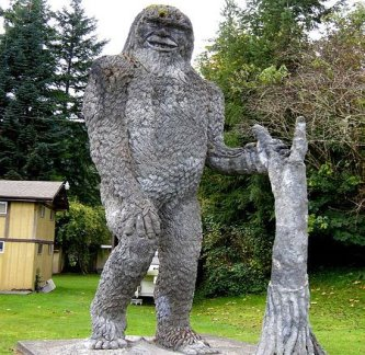 Mormântul şi statuia lui Bigfoot! A fost ucisă această creatură supraomenească în cea mai mare erupţie vulcanică din Statele Unite?