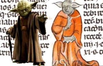"""Maestrul Yoda din seria SF """"Războiul stelelor"""" apare într-un manuscris medieval vechi de 700 de ani! Coincidenţă sau e vorba de un călător în timp medieval!?"""