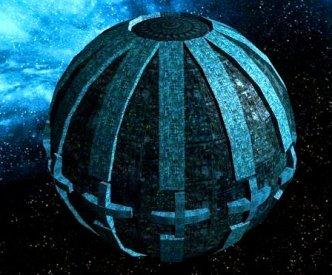 sfera albastra argintie