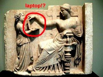 laptop sculptura greaca
