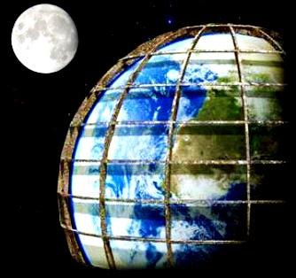 """Luna este un corp artificial imens, ce a fost adus lângă noi pentru a fi observaţi de """"gardieni""""! Noi, oamenii, suntem prizonieri în această imensă închisoare denumită """"Pământ""""!"""
