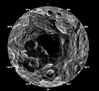 La polul sud al planetei pitice Ceres, NASA a găsit o gaură gigantică! Ce-i asta? O intrare către o lume subterană extraterestră?