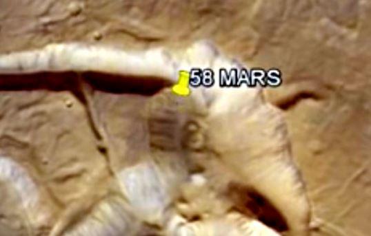 58 pe Marte
