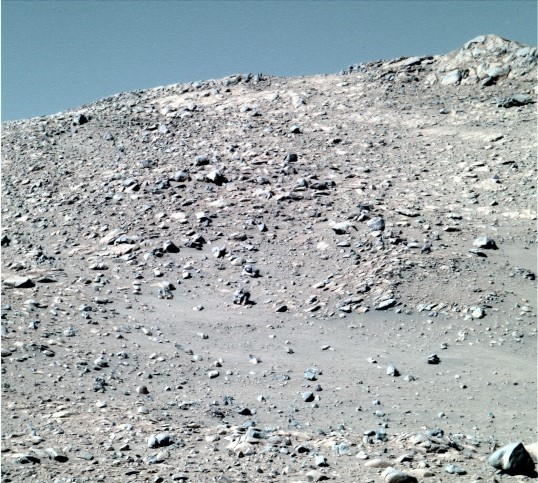 Marte cer albastru