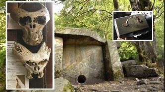 În Caucaz (Rusia) au fost descoperite o servietă şi două cranii misterioase! Se pare că servieta aparţinea unei organizaţii secrete naziste care studia fenomenele paranormale!