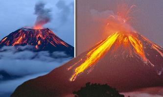 Alertă! Doi vulcani gigantici erup simultan în lume, deşi sunt situaţi la mii de km distanţă între ei!