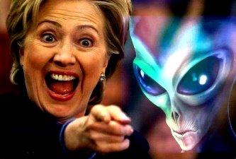 Ha ha ha! Cică doamna Hillary Clinton, odată ajunsă preşedintele SUA, va dezvălui totul despre OZN-uri şi extratereştri! Sigur că da... o şi credem!
