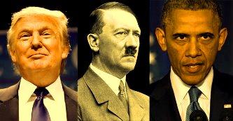 Trump Hitler Obama