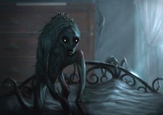 """""""Am văzut o creatură cu doi ochi imenşi, cu privirea cea mai dezgustătoare observată vreodată..."""" În jurul ei era un frig cumplit..."""